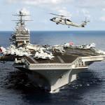 Американский авианосец сбежал от Российских подлодок